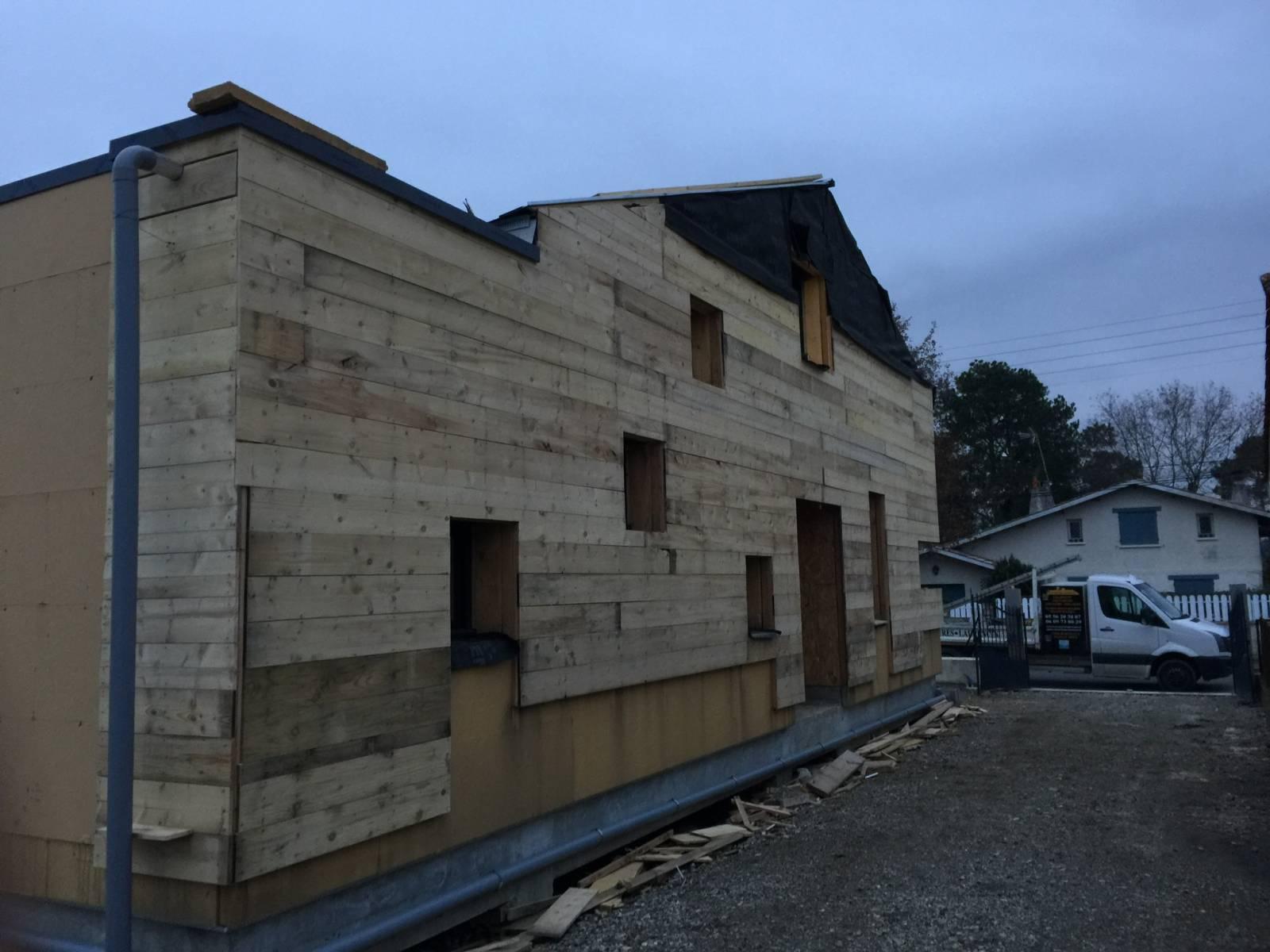 Construction maison ossature bois villenave d ornon 33 couvertures laurencin for Construction maison en bois bordeaux