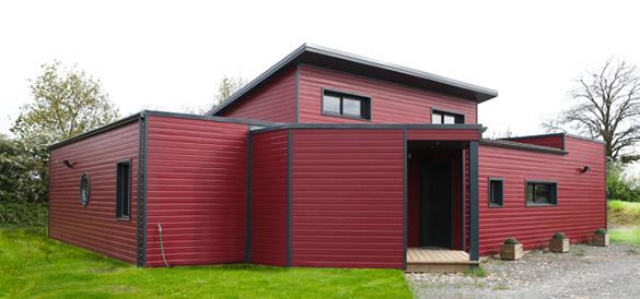 pourquoi choisir une maison en bois toit plat couvertures laurencin. Black Bedroom Furniture Sets. Home Design Ideas